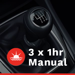 3 x 1 hour Manual Car Lessons